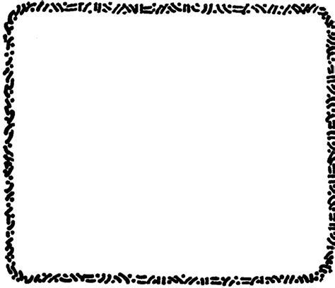 black and white border clipartion
