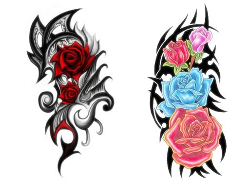 rose with tribal tattoo designs 10 tribal designs for everything about tattoos