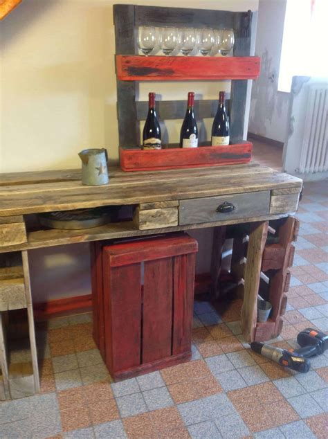 Kitchen Table Wine Storage by Kitchen Table Wine Rack Out Of Recycled Pallets 1001