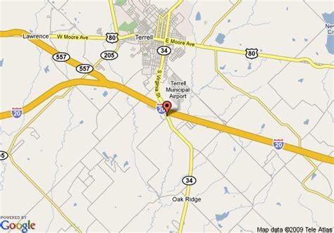 map of terrell texas map of terrell tx days inn terrell