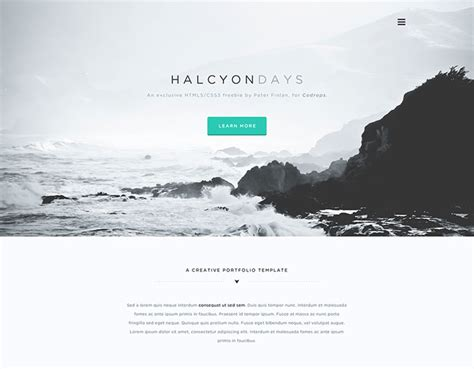 20 Minimalist Psd Website Templates Idevie Minimalist Web Templates
