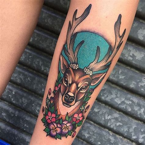 full body deer tattoo 31 amazing deer tattoos with antler best designs with