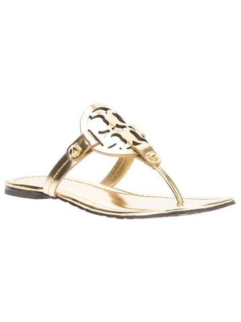 burch miller sandals on sale burch miller sandals in gold lyst