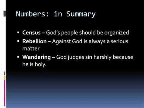 Book Of Numbers Outline by The Book Of Numbers