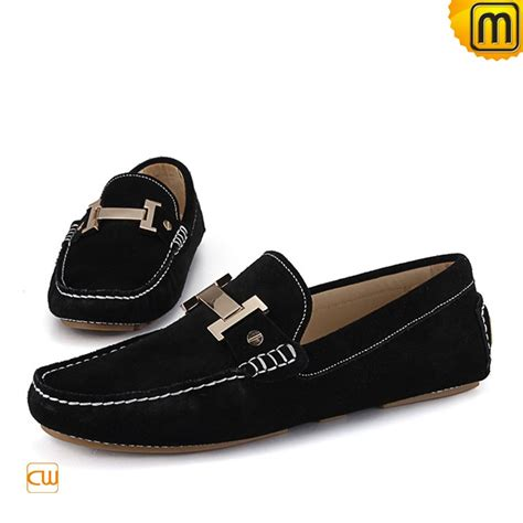 black loafer shoes casual leather loafers for cw713125