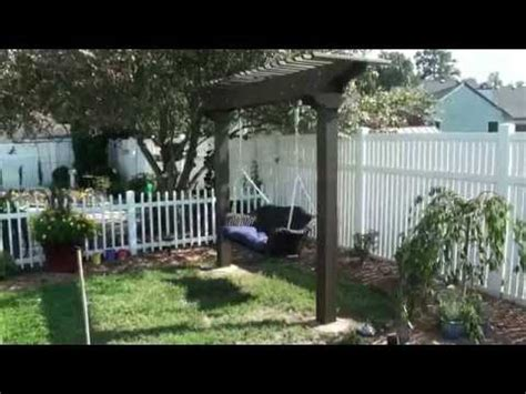 pergola arbor garden swing wicker amp wood youtube