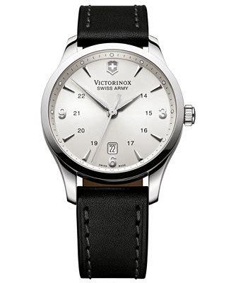 Swiss Army 2175 Black Leather victorinox swiss army s alliance black leather 40mm 249034 watches jewelry