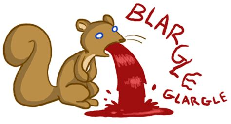 my is throwing up blood a squirrel vomiting a gallon of blood katraccoon comics
