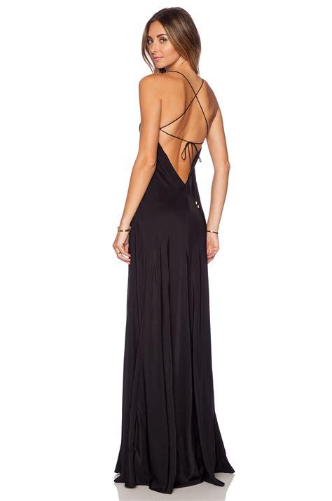 Maanda Maxi x back black dress black dress edin