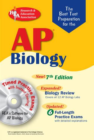ap biology 2018 review book test prep book study guide for the college board ap biology books ap biology w cd rom rea 7th edition the best test prep