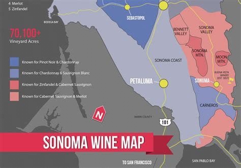 sonoma valley map sonoma wine map poster wine folly