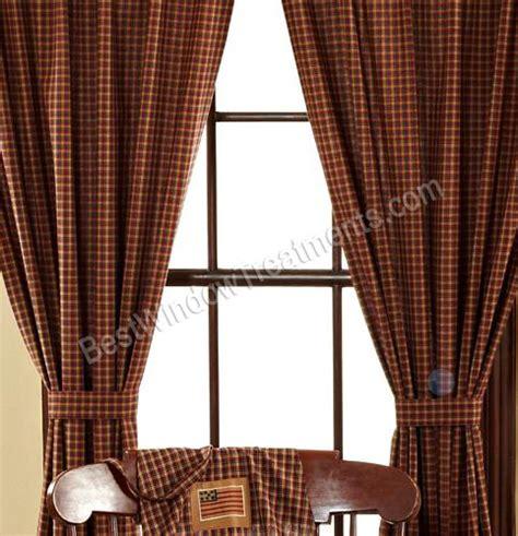 plaid curtains and drapes patriotic plaid curtains
