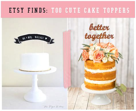 Great Blogs On Etsy Finds by Etsy Finds Cake Toppers Oh What Studios