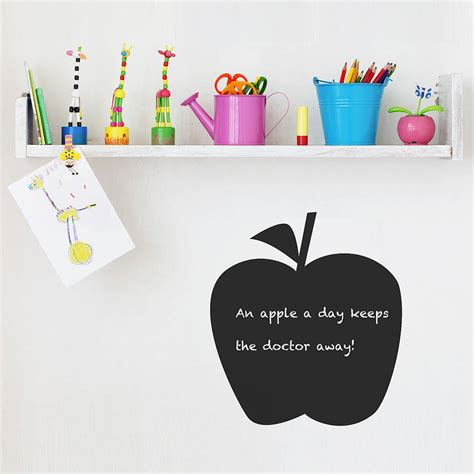 apple wall stickers apple chalkboard wall sticker by spin collective notonthehighstreet
