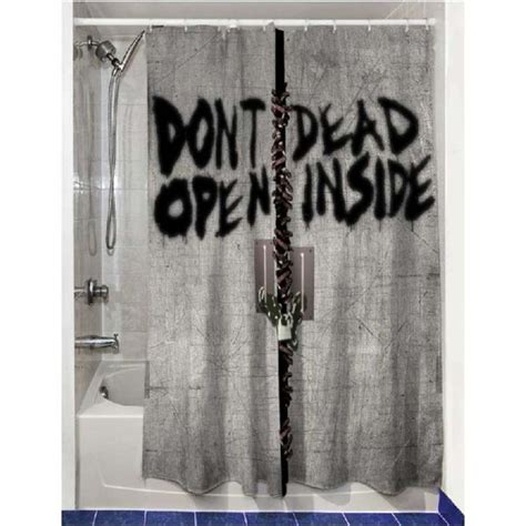 The Walking Dead Dead Inside Shower Curtain Merchandise