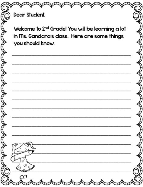 letter writing template grade best photos of 2nd