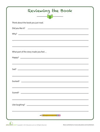 4th grade book report template 6 best images of 3rd grade book report printable