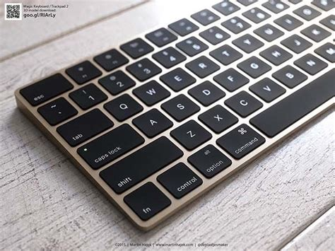 renderings show  gold imac magic keyboard