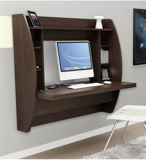wall hung desk wall mounted desk with storage espresso in desks and hutches