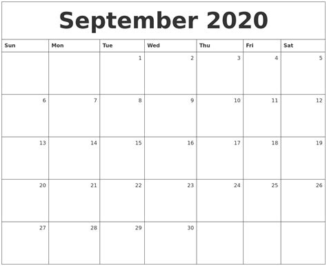 june calendar template