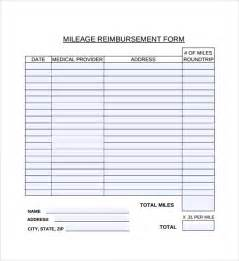 reimbursement sheet template mileage reimbursement form 8 free documents in