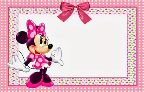 minnie mouse invitations templates free pics for gt blank minnie mouse birthday invitations