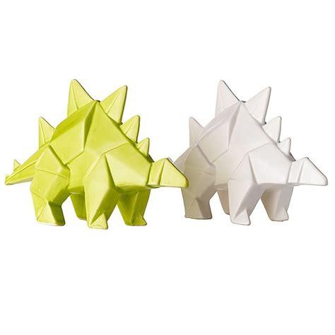 Origami Stegosaurus - ceramic origami stegosaurus set leeann yare for general