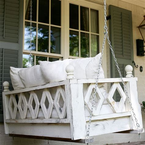 Porch Hangers | hammmade modern hanging swing bed for porch