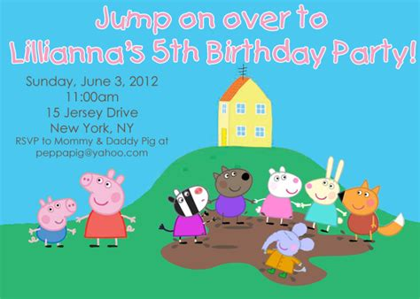 peppa pig invitations template peppa pig evite invitations ideas