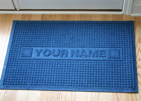 Personalized Floor Mats For Business by Personalized Sculpture Classic Waffle Logo Door Mat