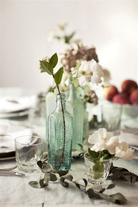 jars glasses and centerpieces on pinterest