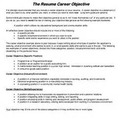 Job Resume Career Objective by Resume Career Objective Resumes Design