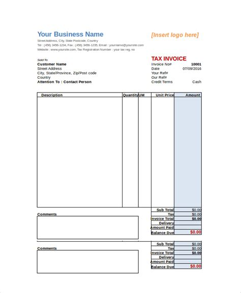 sle invoice 25 documents in pdf word excel