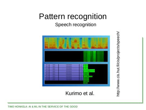 pattern recognition project ideas timo honkela artificial intelligence and machine learning