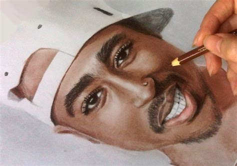 Speed Color Drawing Of 2pac Youtube Colored Drawings