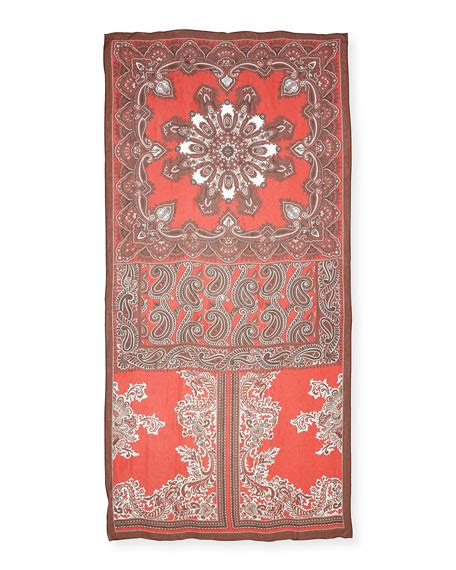 Silk Patchwork Scarf - mcqueen silk chiffon paisley patchwork scarf