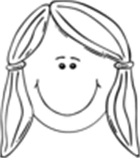 girl face outline clip art face of girl outline clip art at clker com vector clip