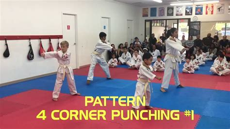 Youtube Taekwondo Pattern 4 | taekwondo patterns 4 corner punching 1 2 3 4