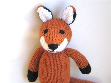 how to knit stuffed animals knitted fox stuffed animal soft knit