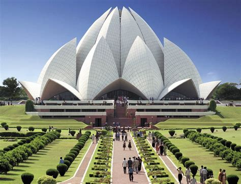Images Of Lotus Temple In Delhi The Bahaii Gardens And Temple In Haifa Israel