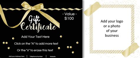 free gift cards templates gift certificate template with logo