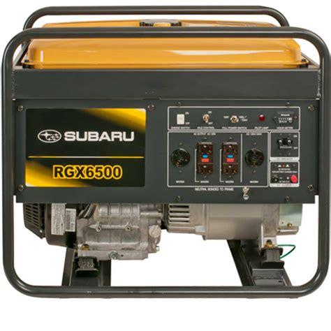 rgx6500 subaru industrial portable generator contractors