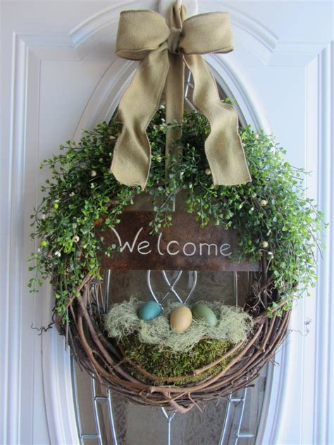 spring wreaths spring door wreath easter wreath welcome wreath