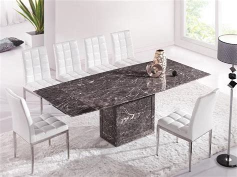Extending Marble Dining Table Brown Grey Extending Dining Table With 6 Chairs Marble Kk Furniture Supplier