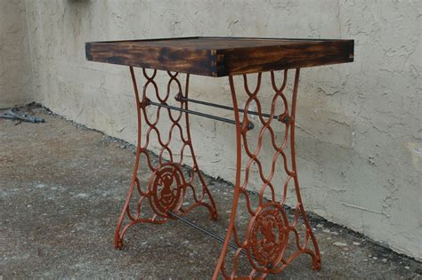 stitch wood top dining table singer sewing machine table eclectic side tables and