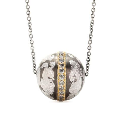 roberto marroni niello engraved silver pendant