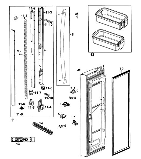 samsung refrigerator parts diagram samsung refrigerator parts model rf266aepnxaa0001