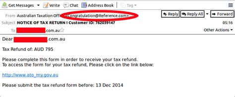 email fake mailguard breaking it news another fake ato tax return scam