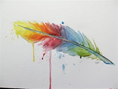 rainbow feather by benjiiben on deviantart