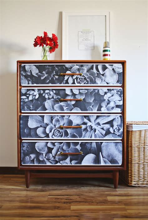 Decoupage Dresser - project restyle photo decoupage a beautiful mess